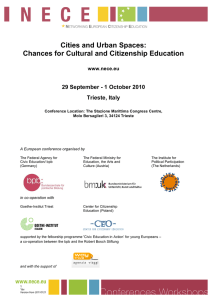 Cities and Urban Spaces: Chances for Cultural and Citizenship Education Trieste, Italy