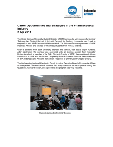 Career Opportunities and Strategies in the Pharmaceutical Industry 2 Apr 2011