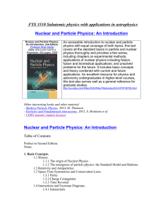FYS 3510 Subatomic physics with applications in astrophysics