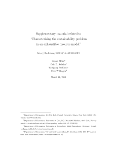 "Supplementary material related to ""Characterizing the sustainability problem"