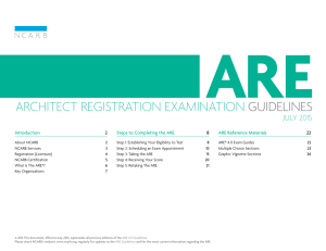 ARCHITECT REGISTRATION EXAMINATION  GUIDELINES JULY 2015