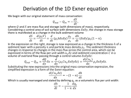 Derivation of the 1D Exner equation