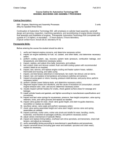 Chabot College Fall 2010  Course Outline for Automotive Technology 63B