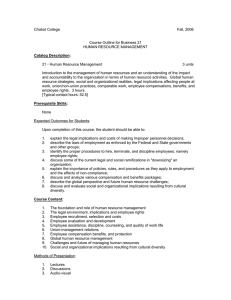 Chabot College Fall, 2006  Course Outline for Business 21