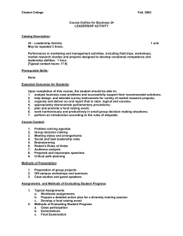 Chabot College  Fall, 2002 Course Outline for Business 24