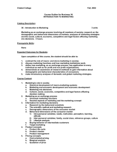 Chabot College  Fall, 2002 Course Outline for Business 36