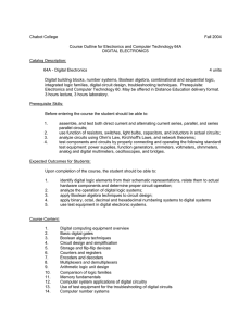 Chabot College Fall 2004 Course Outline for Electronics and Computer Technology 64A