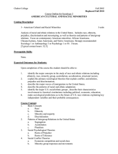 Chabot College Fall 2002  Course Outline for Sociology 3