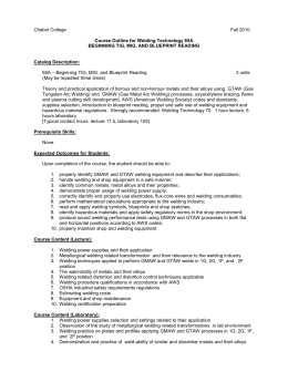 Welding academic essay