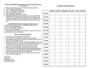 SCHEDULE PLANNING SHEET 2.  Go to STUDENT SERVICES.