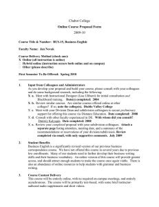 Chabot College 2009-10 Online Course Proposal Form