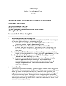 Chabot College 2011-12 Online Course Proposal Form