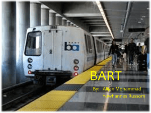 BART By:   Alijan Mohammad Yowhannes Russom