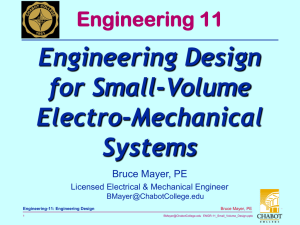Engineering Design for Small-Volume Electro-Mechanical Systems