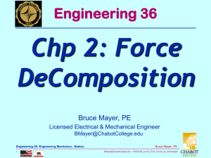 Chp 2: Force DeComposition Engineering 36 Bruce Mayer, PE