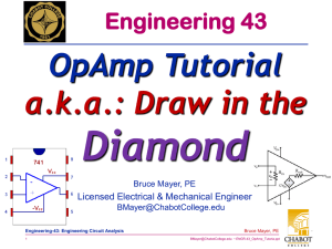 Diamond OpAmp Tutorial a.k.a.: Draw in the Engineering 43