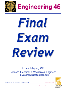 Final Exam Review Engineering 45