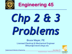 Chp 2 & 3 Problems Engineering 45 Bruce Mayer, PE