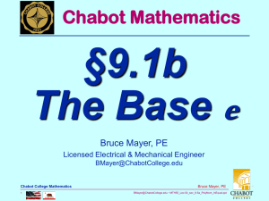 e §9.1b The Base Chabot Mathematics