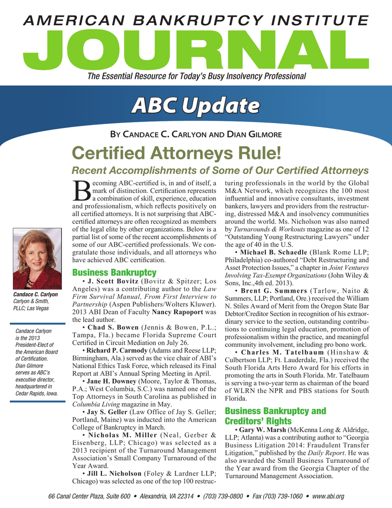 B Abc Update Certified Attorneys Rule