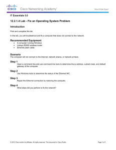 12.2.1.4 Lab - Fix an Operating System Problem Introduction IT Essentials 5.0