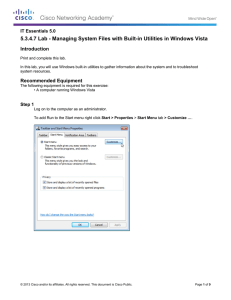5.3.4.7 Lab - Managing System Files with Built-in Utilities in... Introduction IT Essentials 5.0