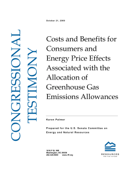 Costs and Benefits for Consumers and Energy Price Effects Associated with the
