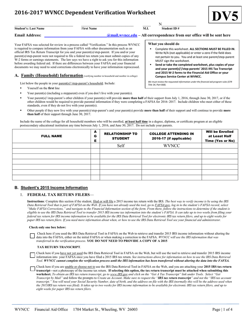 Free Worksheet Dependent Verification Worksheet dependent worksheet irs samsungblueearth samsungblueearth