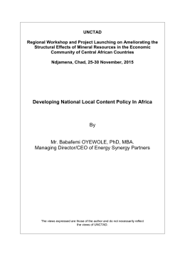 UNCTAD  Regional Workshop and Project Launching on Ameliorating the
