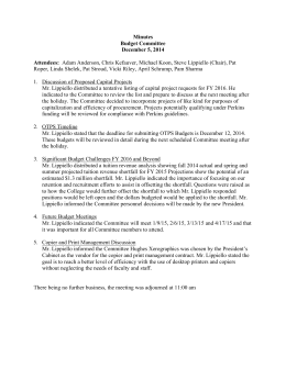 Minutes Budget Committee December 5, 2014