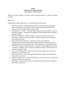 WVNCC Institutional Technologies Committee Meeting Notes – January 20, 2012