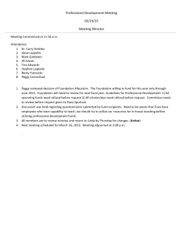 Professional Development Meeting  02/23/15  Meeting Minutes