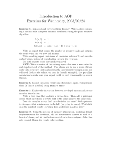 Introduction to AOP Exercises for Wednesday, 2003/09/24