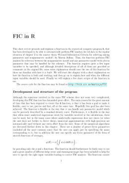 FIC in R