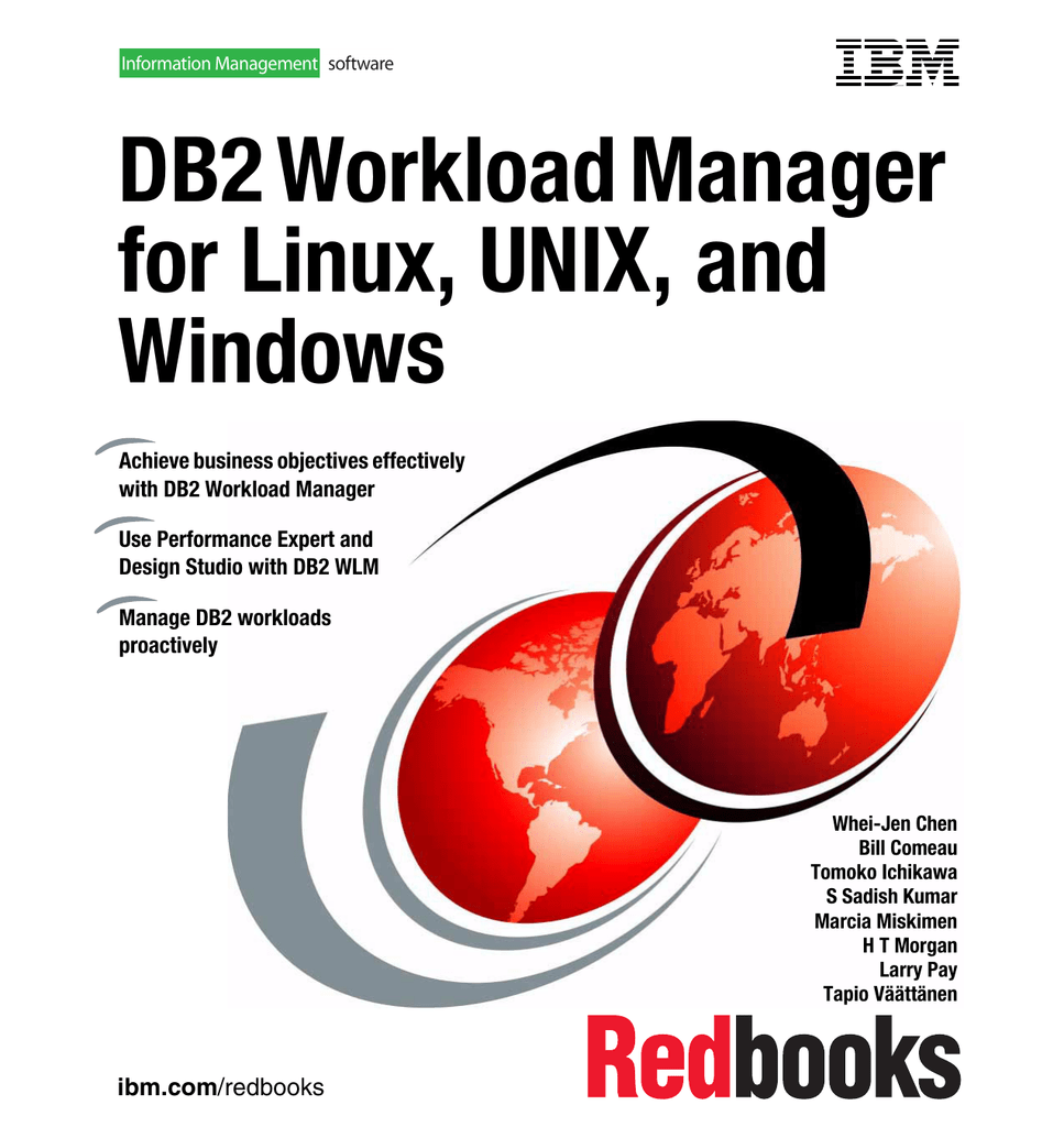 DB2 Workload Manager for Linux, UNIX, and Windows Front cover