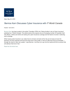 Bernice Karn Discusses Cyber Insurance with IT World Canada