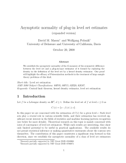 Asymptotic normality of plug-in level set estimates