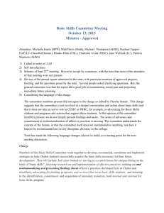 Basic Skills Committee Meeting October 13, 2015 Minutes - Approved