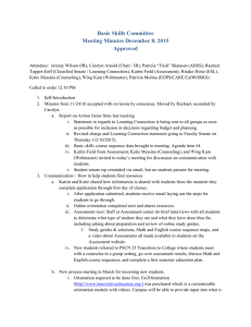 Basic Skills Committee Meeting Minutes December 8, 2015 Approved