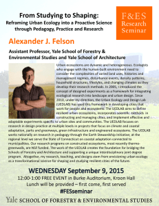 Alexander J. Felson From Studying to Shaping: