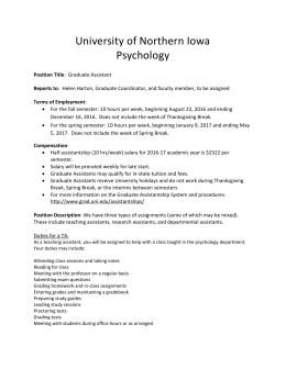 University of Northern Iowa Psychology