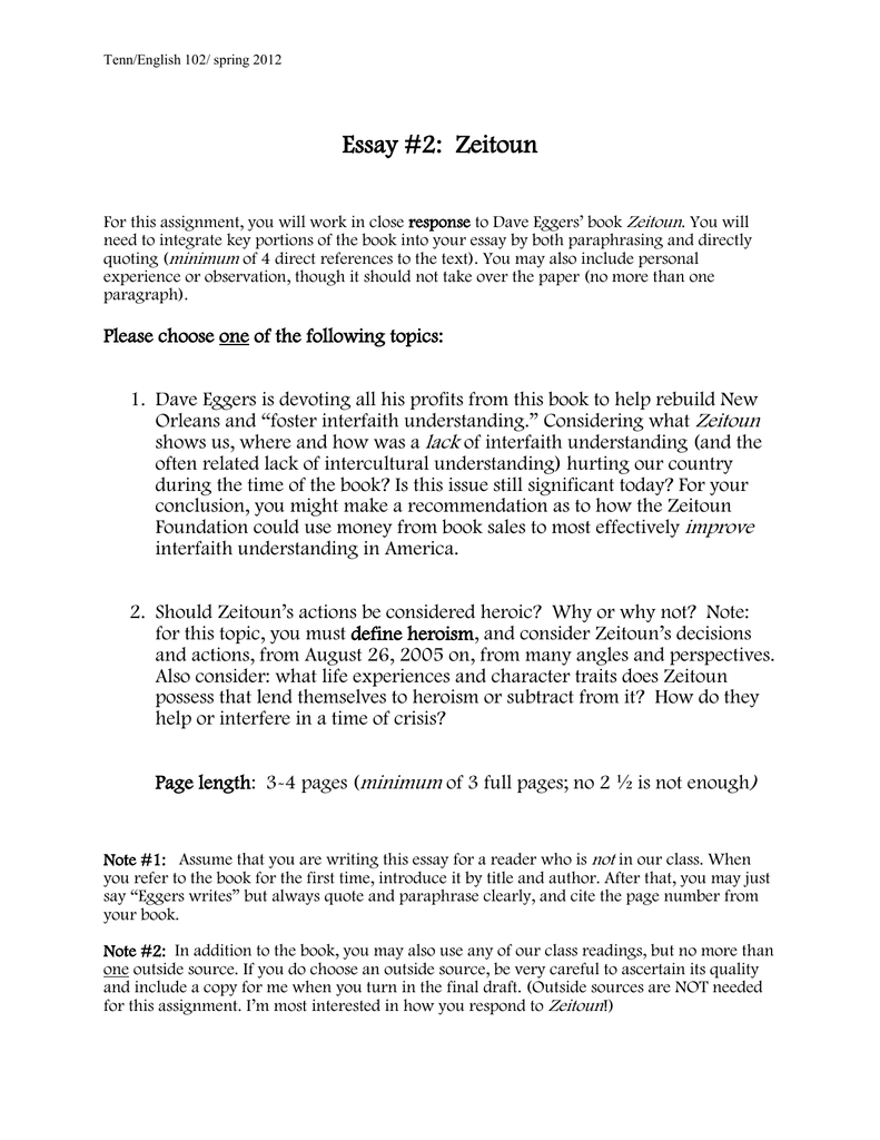Essay Topics For Zeitoun  Zeitoun Essay Topics  Writing Assignments Essay Topics For Zeitoun Business Strategy Essay also High School Vs College Essay Compare And Contrast  Science And Technology Essays