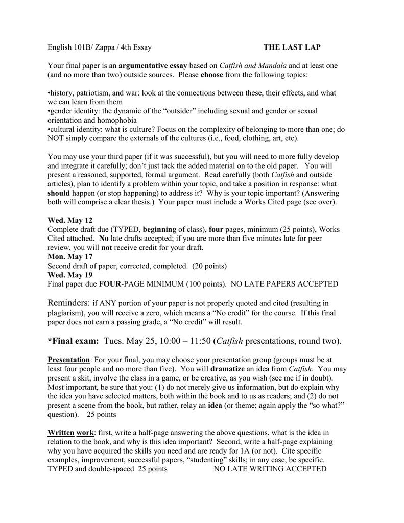 Thesis Statement Essays  Essay On Pollution In English also Essay Tips For High School English B Zappa  Th Essay The Last Lap Argumentative Essay Sample High School Essays