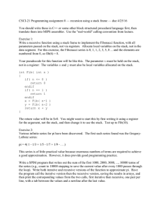 CSCI-21 Programming assignment 8 — recursion using a stack frame —...  You should write these in C++ or some other block...