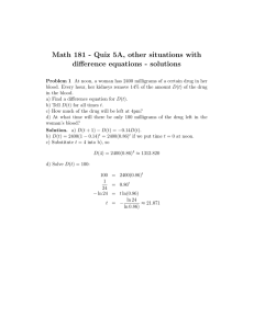 Math 181 - Quiz 5A, other situations with