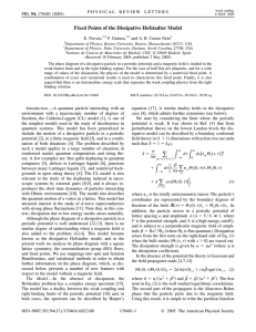 Fixed Points of the Dissipative Hofstadter Model E. Novais, F. Guinea,