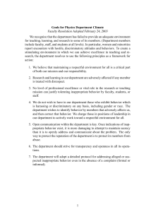Faculty Resolution Adopted February 24, 2003