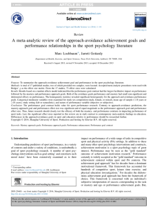 A meta-analytic review of the approach-avoidance achievement goals and