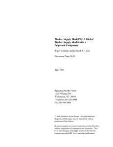 Timber Supply Model 96: A Global Timber Supply Model with a