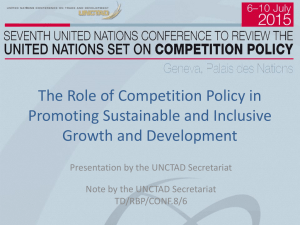The Role of Competition Policy in Promoting Sustainable and Inclusive